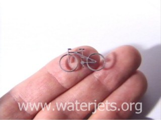 Tiny waterjet part