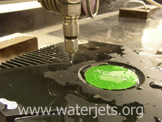 Xbox case cutting – Waterjets.org