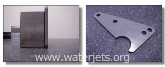 precision waterjet part with virtually no taper