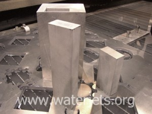 part made from eight inch aluminum by waterjet