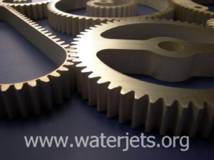 waterjet gears cut from aluminum