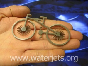 metal bicycle cut by waterjet