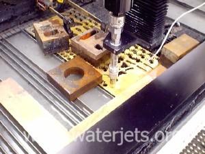 Waterjet cutting brass