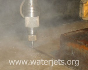 picture of waterjet cutting