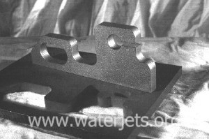 [picture of typical part machined with an abrasive waterjet]