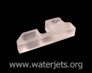 quartz glass part cut by waterjet