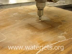 waterjet cutting wood