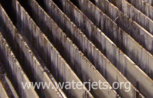 Slats worn from waterjet cutting